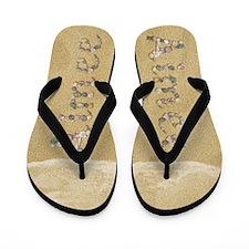Aimee Seashells Flip Flops