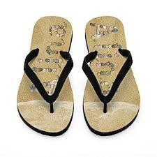 Alina Seashells Flip Flops
