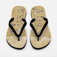 Alisa Seashells Flip Flops