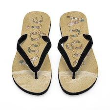 Angie Seashells Flip Flops