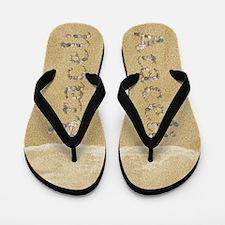 Araceli Seashells Flip Flops