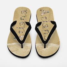 Ariana Seashells Flip Flops
