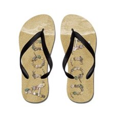Aron Seashells Flip Flops