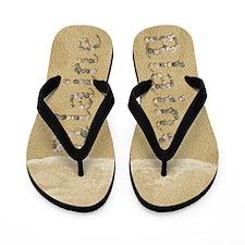 Blaine Seashells Flip Flops