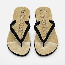 Camron Seashells Flip Flops