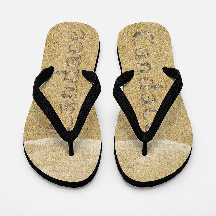 Candace Seashells Flip Flops