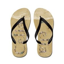 Celia Seashells Flip Flops