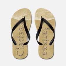 Clarissa Seashells Flip Flops