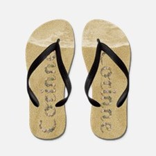 Corinne Seashells Flip Flops