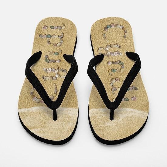 Cyndi Seashells Flip Flops