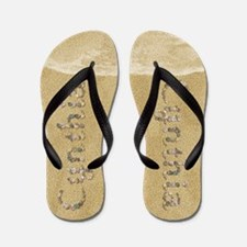 Cynthia Seashells Flip Flops