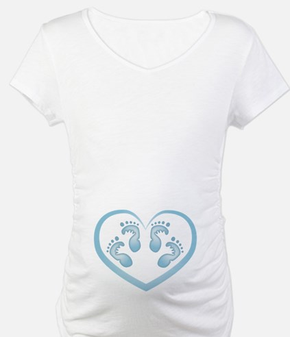 Baby Boy Twins Footprints Shirt