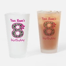 8th Birthday - Personalized Drinking Glass