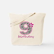 9th Birthday Tote Bag