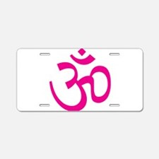 Cute I heart bikram yoga Aluminum License Plate