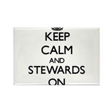 Keep Calm and Stewards ON Magnets