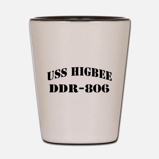 USS HIGBEE Shot Glass