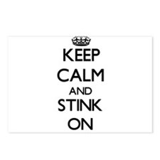 Keep Calm and Stink ON Postcards (Package of 8)