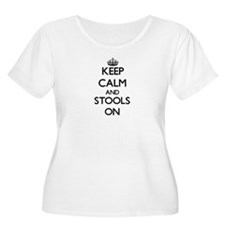 Keep Calm and Stools ON Plus Size T-Shirt