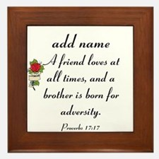 Personalized Friend Name On Proverbs Framed Tile