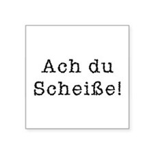 "Cute Germany world cup Square Sticker 3"" x 3"""