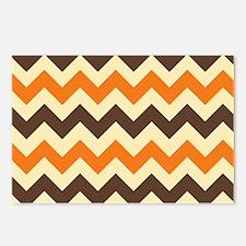 Chevron Retro Orange Brow Postcards (Package of 8)