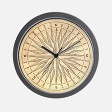 Compass Rose Vintage Wall Clock