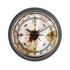 Compass Rose Vintage Rusty Wall Clock