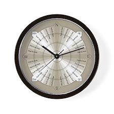 Compass Rose Moderne Wall Clock