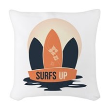 Surfs Up Woven Throw Pillow