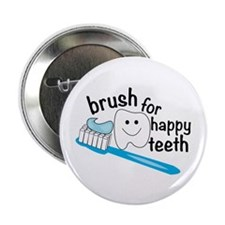 """Happy Teeth 2.25"""" Button (10 pack)"""