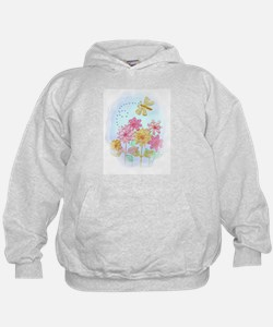 Tatted Dragonfly Garden Hoodie