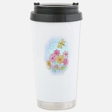 Tatted Dragonfly Garden Travel Mug
