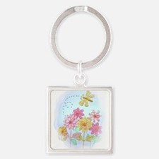 Tatted Dragonfly Garden Keychains