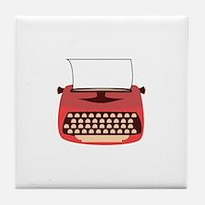 Typewriter Tile Coaster