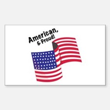 Proud & American Decal