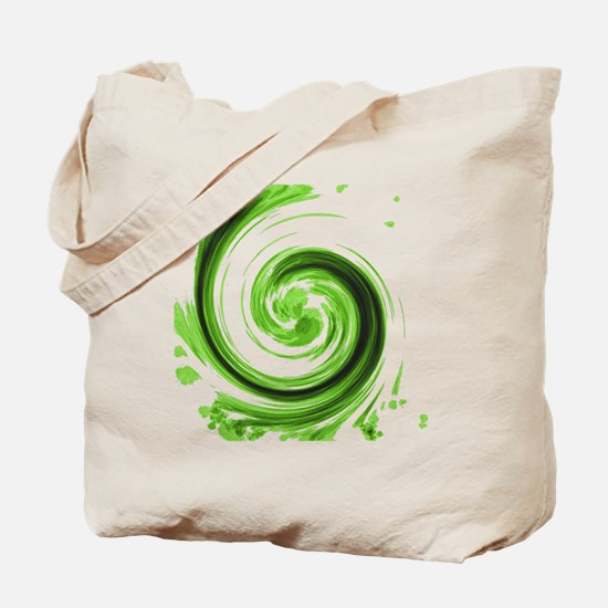 Emerald Spiral Tote Bag