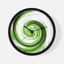 Emerald Spiral Wall Clock