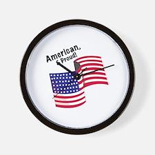 Proud & American Wall Clock
