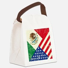 Two Flags, One Race Canvas Lunch Bag