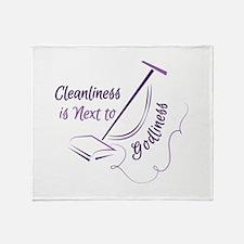 Next To Godliness Throw Blanket