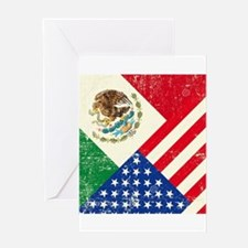 Two Flags, One Race Greeting Cards