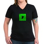 iPod Design iFly Women's V-Neck Dark T-Shirt