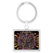 Aztec Warrior Psychedelic Mask Keychains