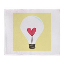 Light Bulb Throw Blanket
