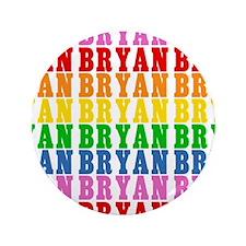 "Rainbow Name Pattern 3.5"" Button"