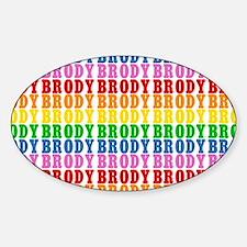 Rainbow Name Pattern Sticker (Oval)