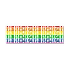 Rainbow Name Pattern Car Magnet 10 x 3