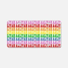 Rainbow Name Pattern Aluminum License Plate