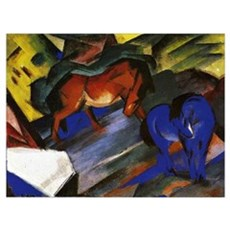 Franz Marc - Red and Blue Horse Framed Print